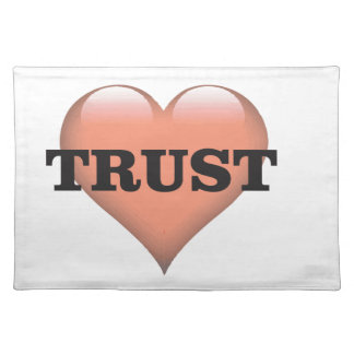 trust love placemat