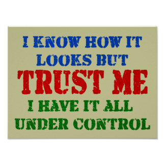 Trust Me - All Under Control Posters