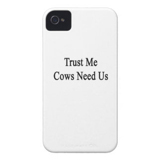 Trust Me Cows Need Us iPhone 4 Case-Mate Case