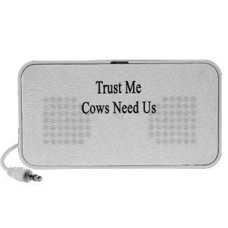 Trust Me Cows Need Us Travelling Speaker