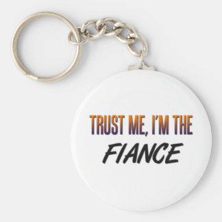 Trust Me Fiance Basic Round Button Key Ring