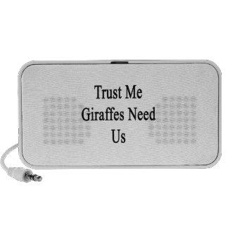 Trust Me Giraffes Need Us iPhone Speaker