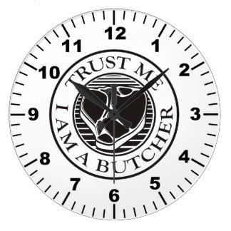Trust me, I am a Butcher T-bone Wall Clocks