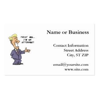 Trust Me I am an Attorney Pack Of Standard Business Cards