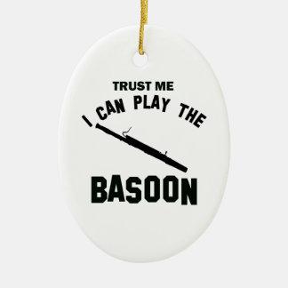 Trust me I can play the BASOON Ceramic Ornament