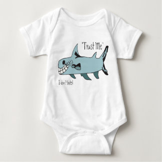 Trust Me..I Don't Bite Shark Baby Bodysuit