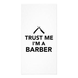 Trust me I m a Barber Photo Greeting Card