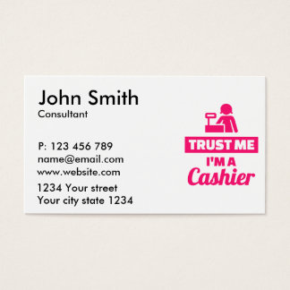 Trust me I'm a cashier Business Card