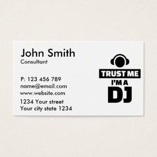 Trust me I'm a DJ Business Card