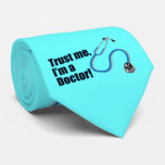 Trust Me I'm a Doctor Stethoscope Silk Tie