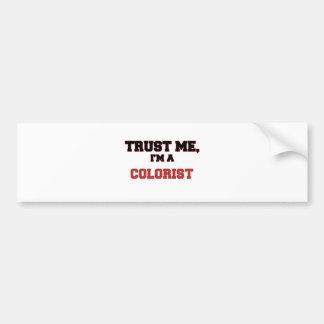 Trust Me I m a My Colorist Bumper Sticker