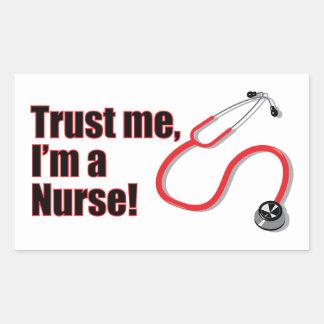 Trust Me I m A Nurse Funny Stickers Labels