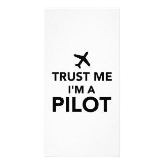 Trust me I m a Pilot Customized Photo Card