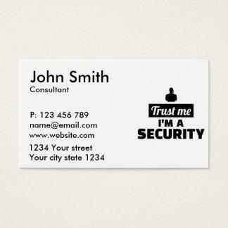 Trust me I'm a security guard Business Card