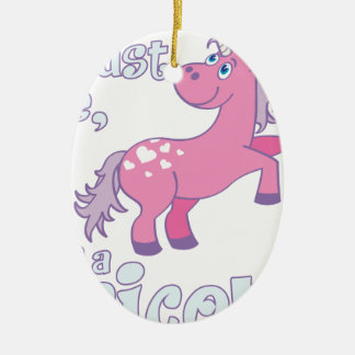 trust me i´m a unicorn ceramic ornament
