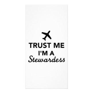 Trust me I m stewardess Picture Card