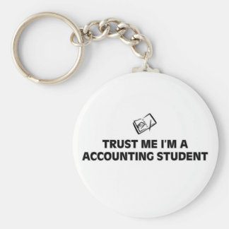 Trust me I'm a accounting student Key Ring