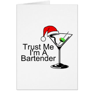Trust Me Im A Bartender Martini Card