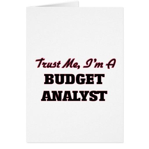 Trust me I'm a Budget Analyst Card
