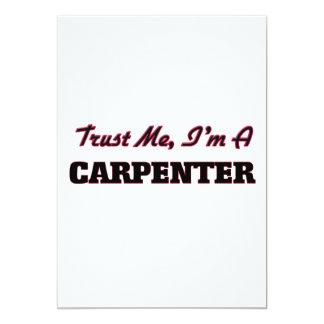 """Trust me I'm a Carpenter 5"""" X 7"""" Invitation Card"""