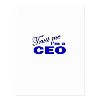 Trust Me I'm a CEO Postcard
