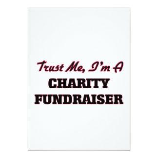 "Trust me I'm a Charity Fundraiser 5"" X 7"" Invitation Card"