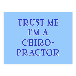 Trust Me I'm a Chiropractor Postcard