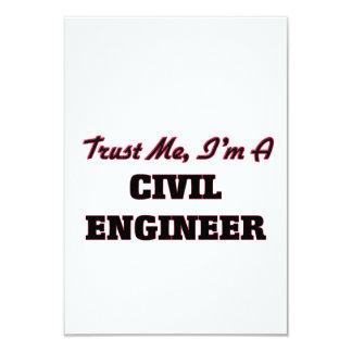 Trust me I'm a Civil Engineer 9 Cm X 13 Cm Invitation Card