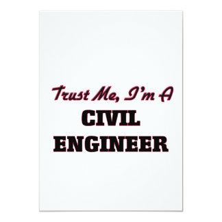 Trust me I'm a Civil Engineer 5x7 Paper Invitation Card