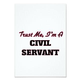 Trust me I'm a Civil Servant 9 Cm X 13 Cm Invitation Card