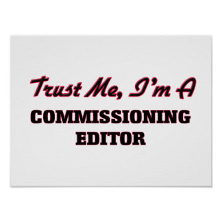 Trust me I'm a Commissioning Editor Poster