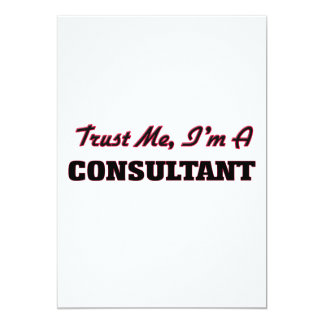 Trust me I'm a Consultant Personalized Announcement