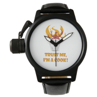 Trust me i'm a cook! wristwatch