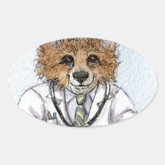 Trust me - I'm a Corgi (doctor) Oval Sticker