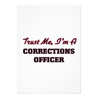 Trust me I'm a Corrections Officer Personalized Invitations