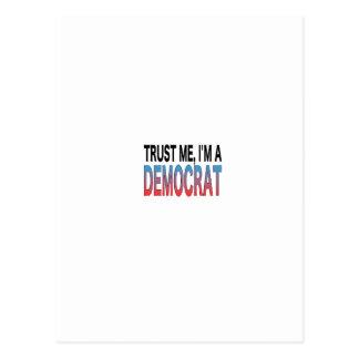 Trust Me, I'm A Democrat Postcard