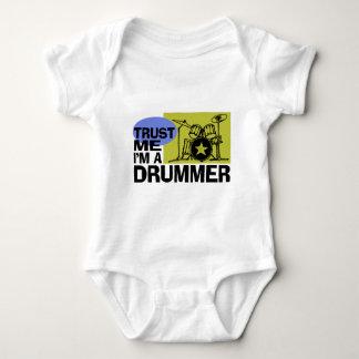 Trust Me I'm A Drummer Baby Bodysuit