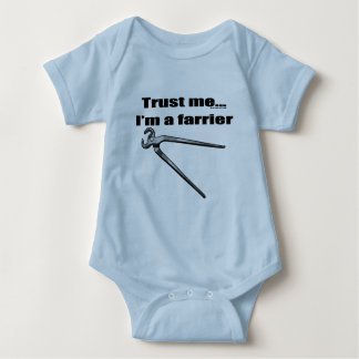 Trust me I'm a farrier. Baby Bodysuit