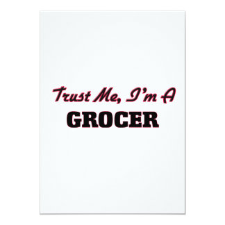 "Trust me I'm a Grocer 5"" X 7"" Invitation Card"