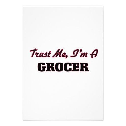 Trust me I'm a Grocer Custom Announcement