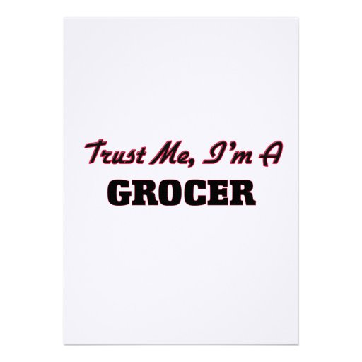 Trust me I'm a Grocer Invites