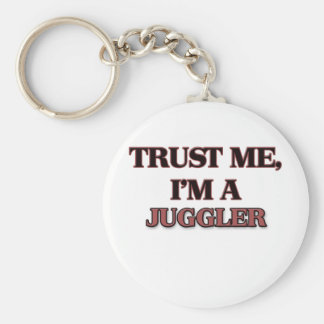 Trust Me I'm A JUGGLER Basic Round Button Key Ring