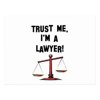 Trust me Im a lawyer Postcard