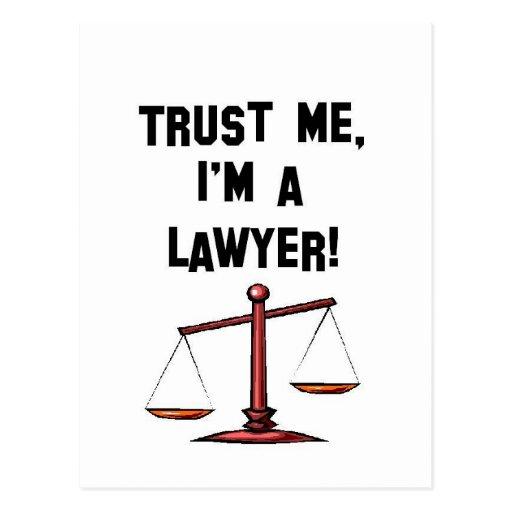 Trust me Im a lawyer Postcards