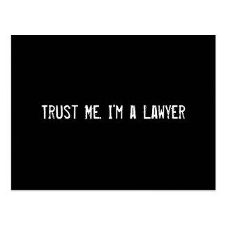 Trust Me. I'm a Lawyer Postcard