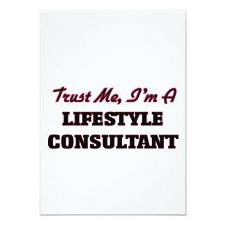 "Trust me I'm a Lifestyle Consultant 5"" X 7"" Invitation Card"