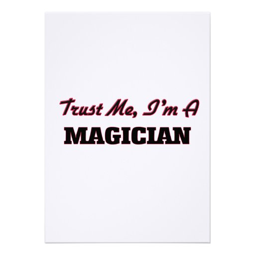 Trust me I'm a Magician Invitations