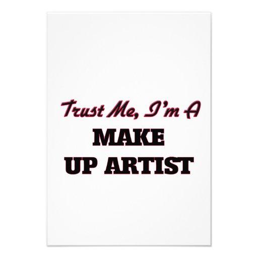 Trust me I'm a Make Up Artist Invitations