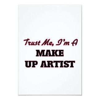 "Trust me I'm a Make Up Artist 3.5"" X 5"" Invitation Card"