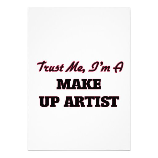 Trust me I'm a Make Up Artist Invites